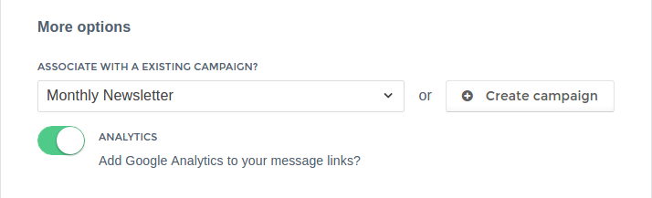 Associate a message with an existing campaign